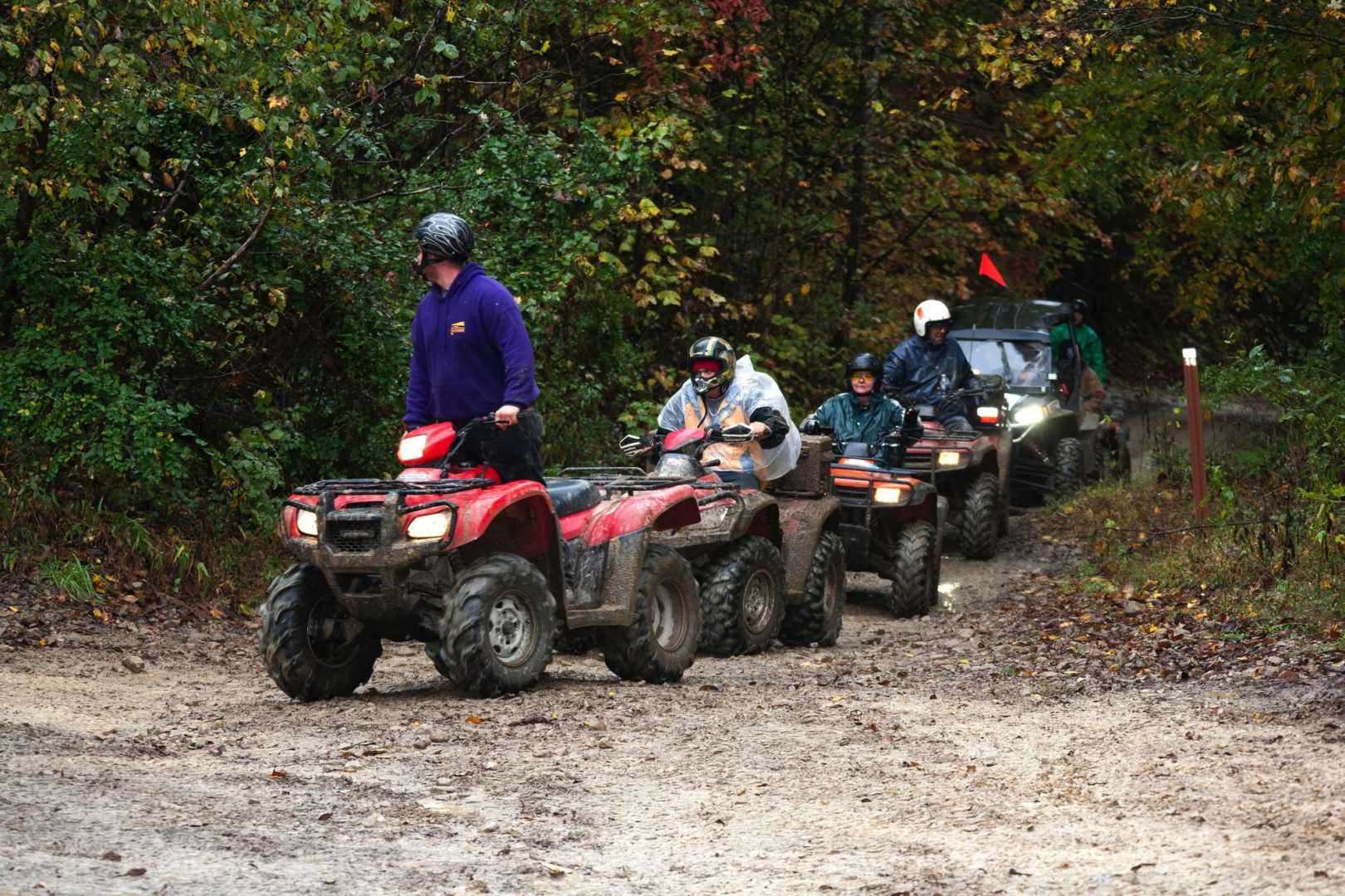 Multiple Riders On ATVs