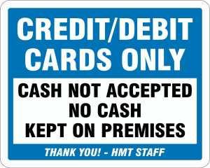 Hatfield Cash Only Decals